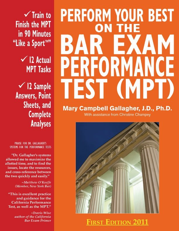 mary campbell gallagher bar exam essays Scoring high on bar exam essays by mary campbell gallagher reserve kf 303 g353 2006 (the four-cd set is also available at the reserve desk).