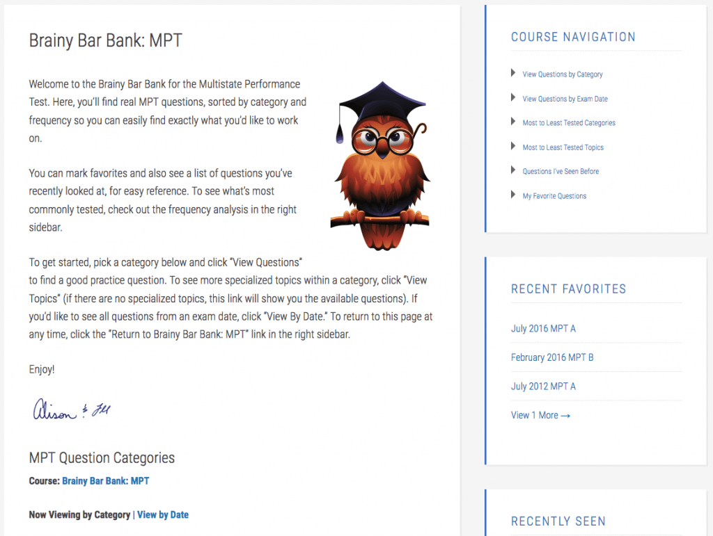 Brainy Bar Bank - MPT home page